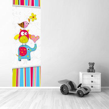 Muursticker babykamer paneel: Beestenboel