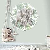 Muurcirkel jungle olifanten