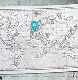 muursticker wereldkaart detail