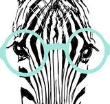 muursticker zebra detail