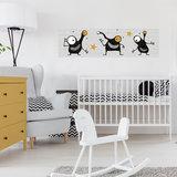 babykamer muursticker okergeel