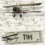 muursticker vliegtuigen detail