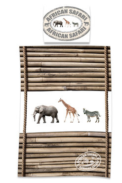 Kinder dekbedovertrek bamboe jungle dieren