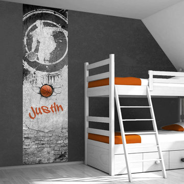 Muursticker paneel: Basketbal