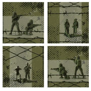 Muursticker leger