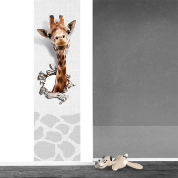 Muursticker paneel: Giraf
