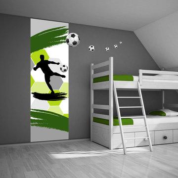 Posterpaneel: Voetballer groen