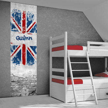 Muursticker paneel: Engelse vlag