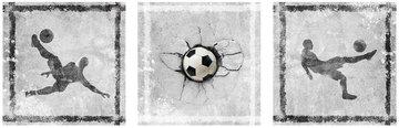 Muursticker 3 luik voetbal