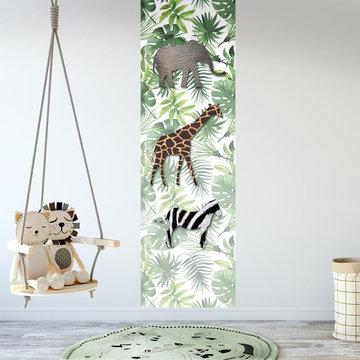 Muursticker paneel: Jungledieren