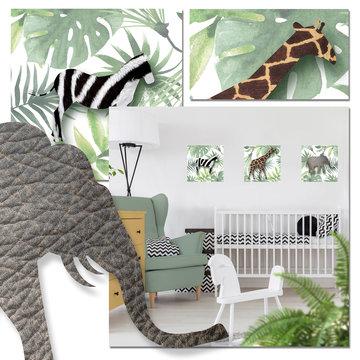 Muursticker jungledieren