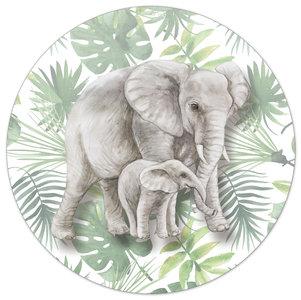 Muurcirkel jungle kinderkamer