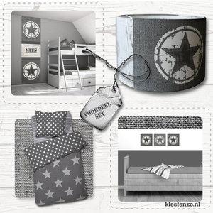 Kinderkamer idee grijs sterren