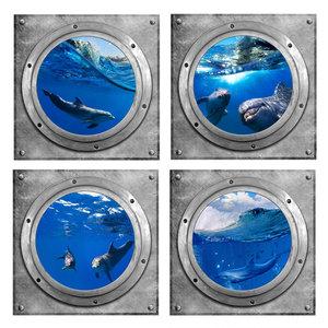 muursticker dolfijn