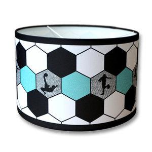 Voetbal lamp aqua blauw turquoise