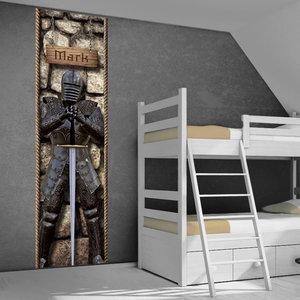 muursticker ridderkamer