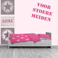 muursticker ster roze meidenkamer